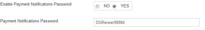 Payment Response Password